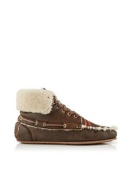 Jerome Dreyfuss Cheyenne Moccasin Shearling Ankle Boot Natural