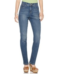 Styleandco. Style And Co. Petite Tummy Control Slim Jeans Only At Macy's Faith Wash