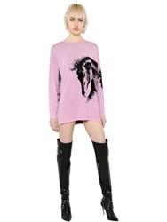 Fausto Puglisi Horse Design Wool Jacquard Sweater Dress