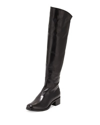 Sesto Meucci Annie Leather Knee Boot Black Blac