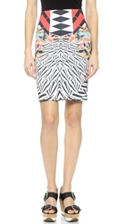 Clover Canyon Toucan Pencil Skirt Red