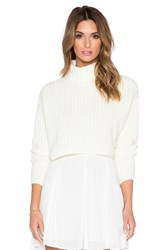 Finders Keepers Like Smoke Knit Sweater White