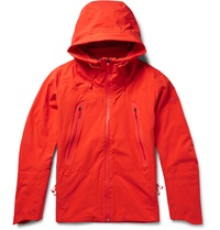 Descente Hooded Waterproof Shell Jacket Orange