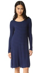 Velvet Peony Stripe Dress Sailboat