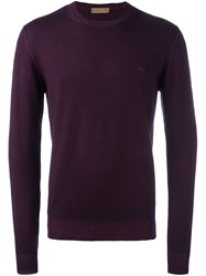 Etro Crew Neck Sweater Pink Purple