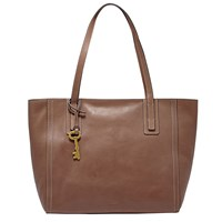 Fossil Emma Leather Tote Bag Brown