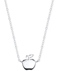 Disney Snow White Apple Pendant Necklace In Sterling Silver