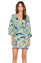 Trina Turk Nomad Paisley Covers Tunic Blue