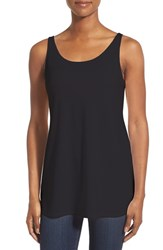 Women's Eileen Fisher Jersey Scoop Neck Long Tank Black