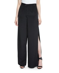 Haute Hippie The Meadow Side Slit Silk Pants Black