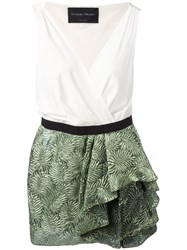 Christian Pellizzari Ruffled Skirt Dress Green