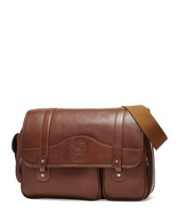 Fielding No. 137 Leather Messenger Bag Vintage Chestnut Ghurka