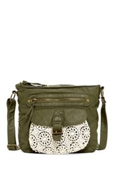 T Shirt And Jeans Crochet Crossbody Green