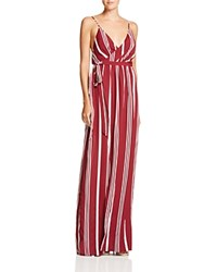 The Jetset Diaries Colonial Stripe Maxi Dress Oxblood Stripe