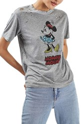 Topshop Women's Studded Mouse Graphic Tee