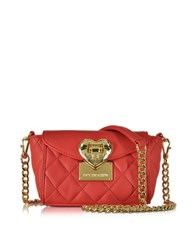 Love Moschino Quilted Mini Shoulder Bag Red