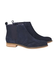 White Stuff Primrose Brogue Chelsea Boot Navy