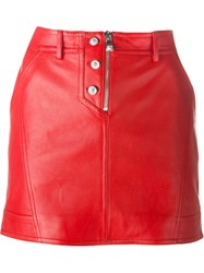 Versus Zip Mini Skirt Red