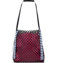 Marques Almeida Large Leather Shopper Pink
