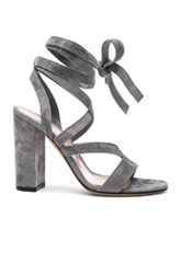 Gianvito Rossi Suede Janis High Sandals In Gray