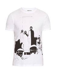 Mcq By Alexander Mcqueen Masi Print Cotton T Shirt White Multi