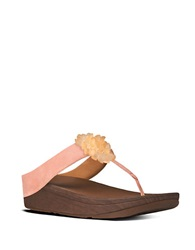 Fitflop Blossom Suede Thong Sandals Flamingo