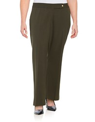 Calvin Klein Plus Classic Fit Pants Loden Green