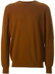 Lanvin Crew Neck Sweater Brown