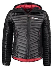 Berghaus Down Jacket Jet Black Red Dahlia