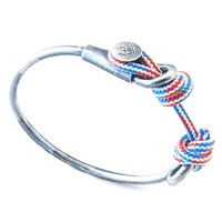 Anchor And Crew Wharf Rope Silver Banglered White Blue