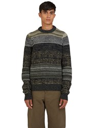 Acne Studios Kai Multi Yarn Crew Neck Sweater Green