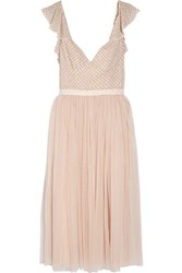 Needle And Thread Swan Beaded Georgette Dress Blush