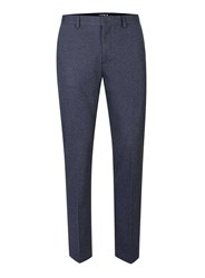 Topman Navy Cropped Skinny Smart Trousers Blue