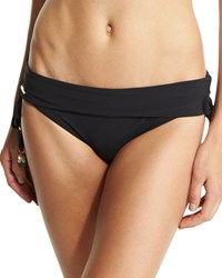 Stella Mccartney Timeless Basics Fold Over Swim Bottom Black