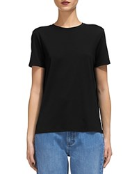 Whistles Pleat Back Tee Black