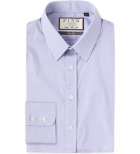Thomas Pink Appleby Super Slim Fit Stretch Cotton Shirt Lilac White