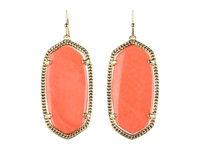 Kendra Scott Elle Earring Gold Coral Earring Orange