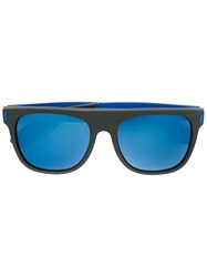 Retrosuperfuture 'Large Flat Top Squadra' Sunglasses Black