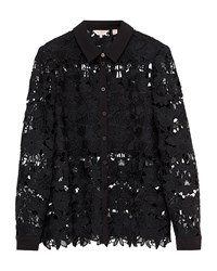 Ted Baker Sydneey Lace Panel Shirt Black