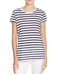 Sundry Striped Tee White Navy