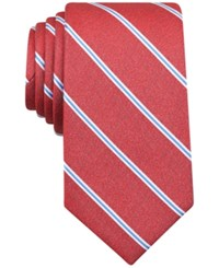 Perry Ellis Men's Kelly Striped Classic Tie Red