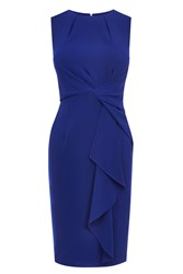 Coast Curve Crepe Dress Blue