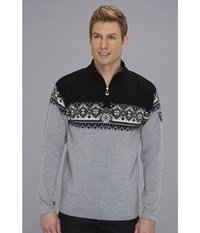 Dale Of Norway St. Moritz Masculine T Metal Grey Shiefer Vig Black Off White Men's Sweater