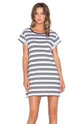 Evil Twin Crooked Young Striped Tee Dress White