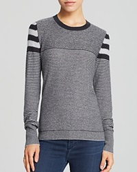 Aqua Sweater Multi Stripe Cashmere Elephant Silver