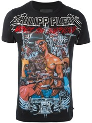 Philipp Plein Printed T Shirt Black
