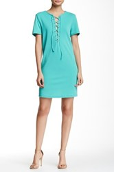 Romeo And Juliet Couture Lace Up Shift Dress Green