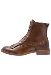 Marc O'polo Laceup Boots Whiskey Cognac