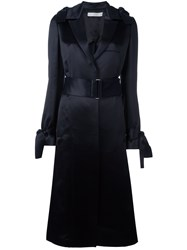Victoria Beckham Silky Effect Trench Coat Blue