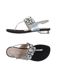 Tiffi Footwear Thong Sandals Women Silver
